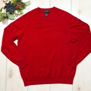 Giasone 100% 2 Ply Cashmere Red Sweater L G